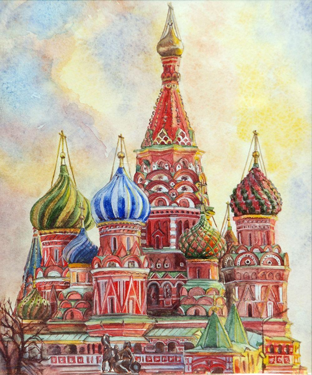 Московский кремль картинки нарисованные